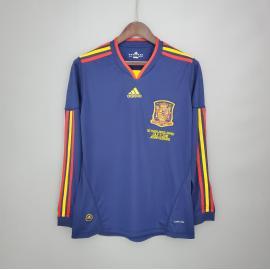 Camiseta Retro España Segunda Equipación 2010 Manga Larga