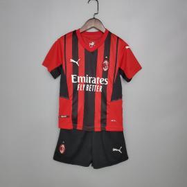 Camiseta AC Milan Primera Equipación 2021/2022 Niño