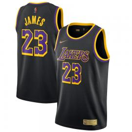 Camiseta Earned Edition Swingman de Los Angeles Lakers de LeBron James