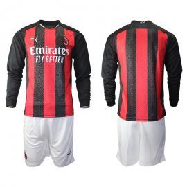 Camiseta AC Milan Primera Equipación 2020/2021 Manga Larga