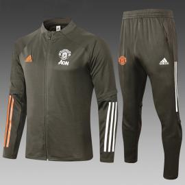 Chandal Entrenamiento Fc Manchester United 2021 Ejercito Verde Niño