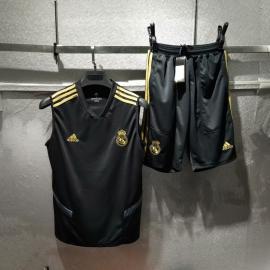 2019 - 2020 Negra chaleco de entrenamiento del Real Madrid