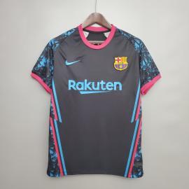 Barcelona 2020-2021 Entrenamiento Camiseta Negra