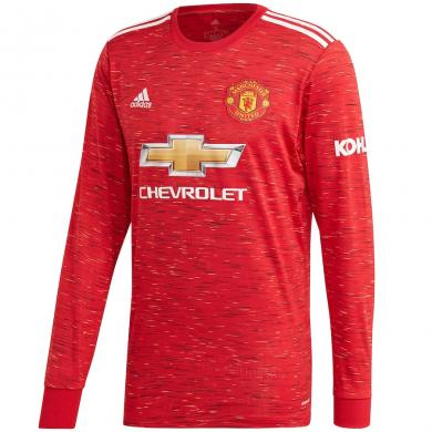 Camiseta De La Equipación Local Del Manchester United 2020-2021 Manga Larga