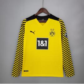 Camiseta Borussia Dortmund Primera Equipación 2021/2022 ML