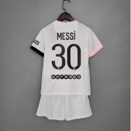Camiseta De Messi En El PSG Segunda Equipación 2021-2022 Niño