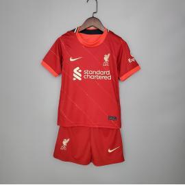 Camiseta Liverpool Primera Equipación 2021/2022 Niño