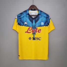 Camiseta Scc Napoli Amarilla x azul 2020-2021