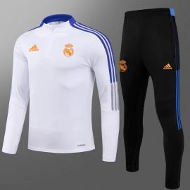 Chaquetas Entrenamiento FC Real Madrid 2021 Blanco