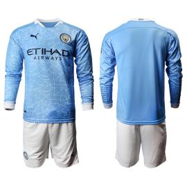Camiseta Manchester City 1ª Equipación 2020/2021 ML