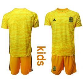 Camiseta España Portero en Amarilla 2020 Edición Copa De Europa Nino