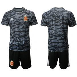 Camiseta España Portero en negro 2020 Edición Copa De Europa
