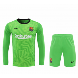 Camiseta Barcelona Portero Verde Manga Larga Niño