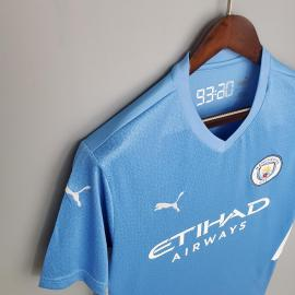 Camiseta Manchester City Primera Equipacion 2021/2022 Niño