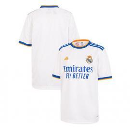 Camiseta Real Madrid Niño Primera Equipación Blanca 21/22