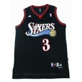 Camiseta Allen Iverson Philadelphia 76ers [Negro]