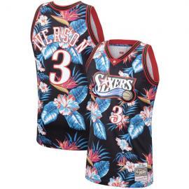 Camiseta Allen Iverson Philadelphia 76ers Mitchell & Ness Floral Pack