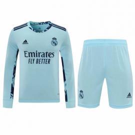 Camiseta 20/21 Real Madrid Portero Manga Larga Celeste