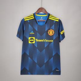 Camiseta Manchester United Tercera Equipación 2021/2022 Niño