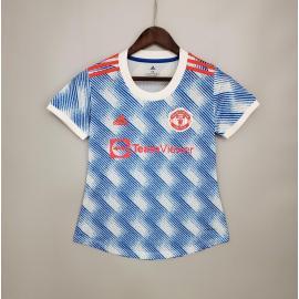 Camiseta Manchester United Segunda Equipación 2021/2022 Mujer