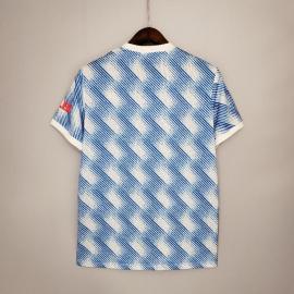 Camiseta Manchester United Segunda Equipación 2021/2022 Niño